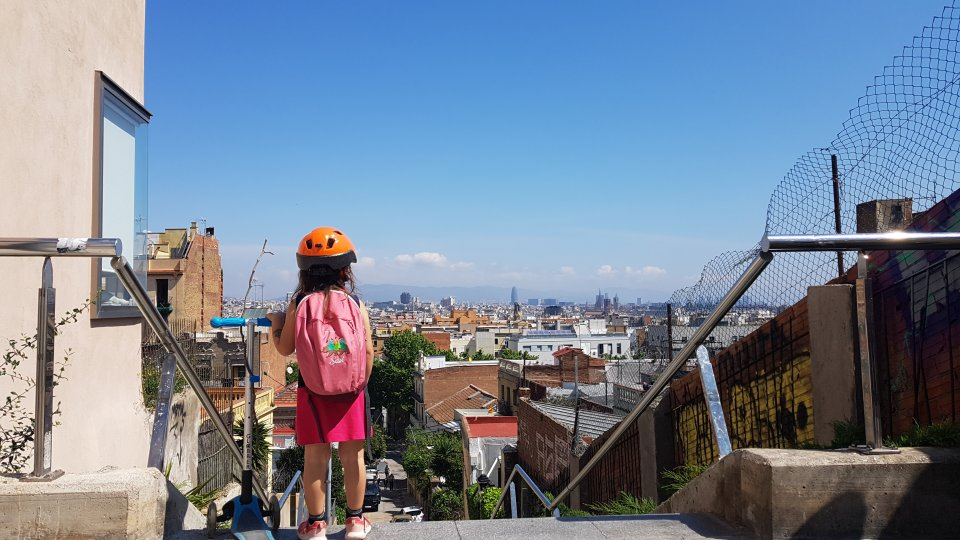 Savi overlooking Barcelona