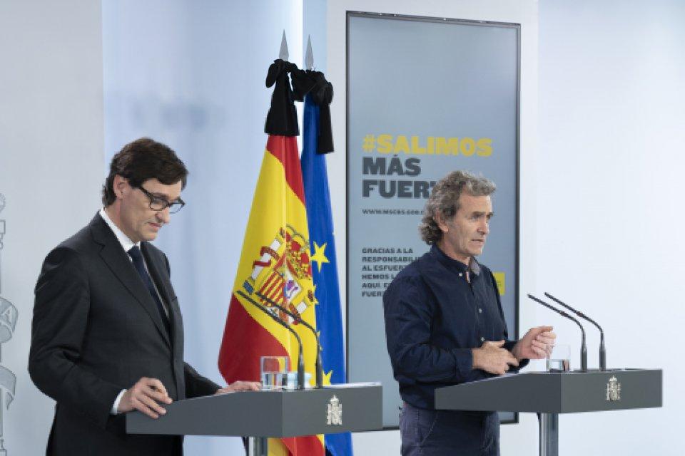Salvador Illa and Fernando Simón