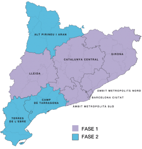 Healthcare zones of Catalonia