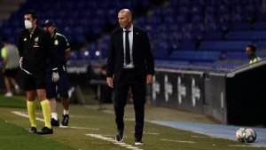 Real Madrid coach Zidane