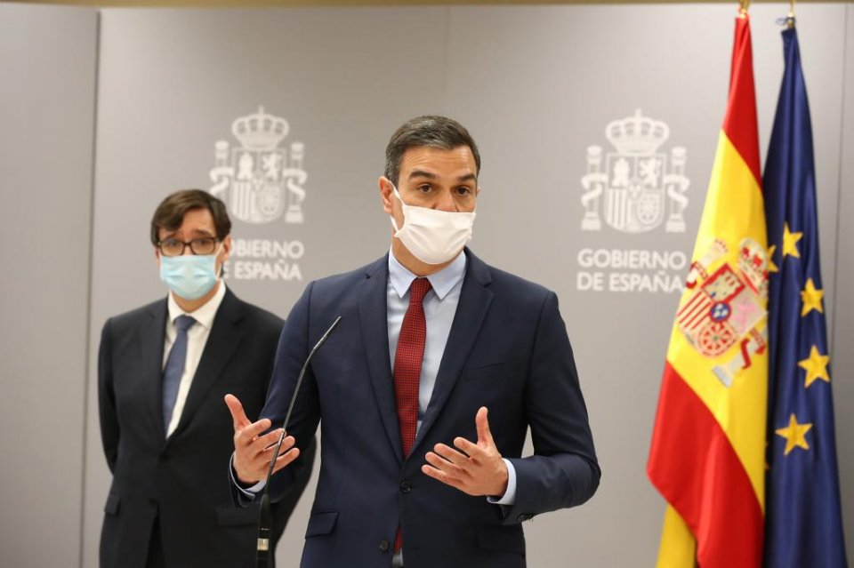 Pedro Sánchez and Salvador Illa