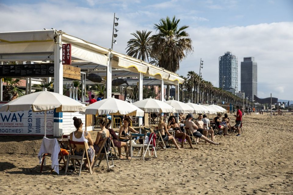 A beachfront chiringuito in Barcelona