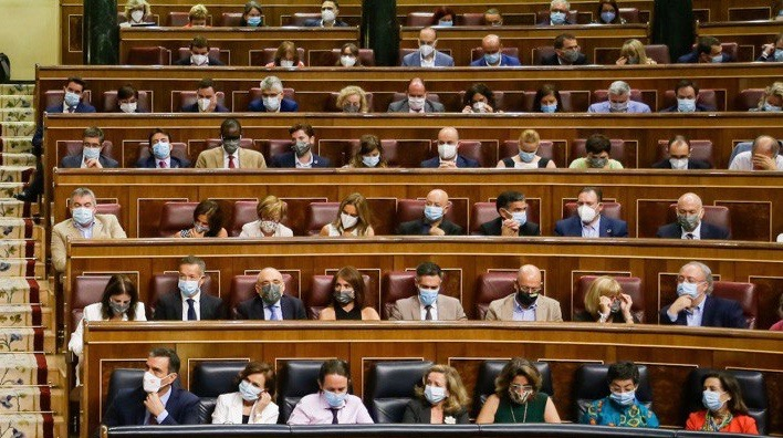 An image of the Spanish Congress
