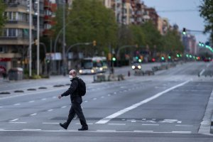 An image taken in Barcelona during the lockdown