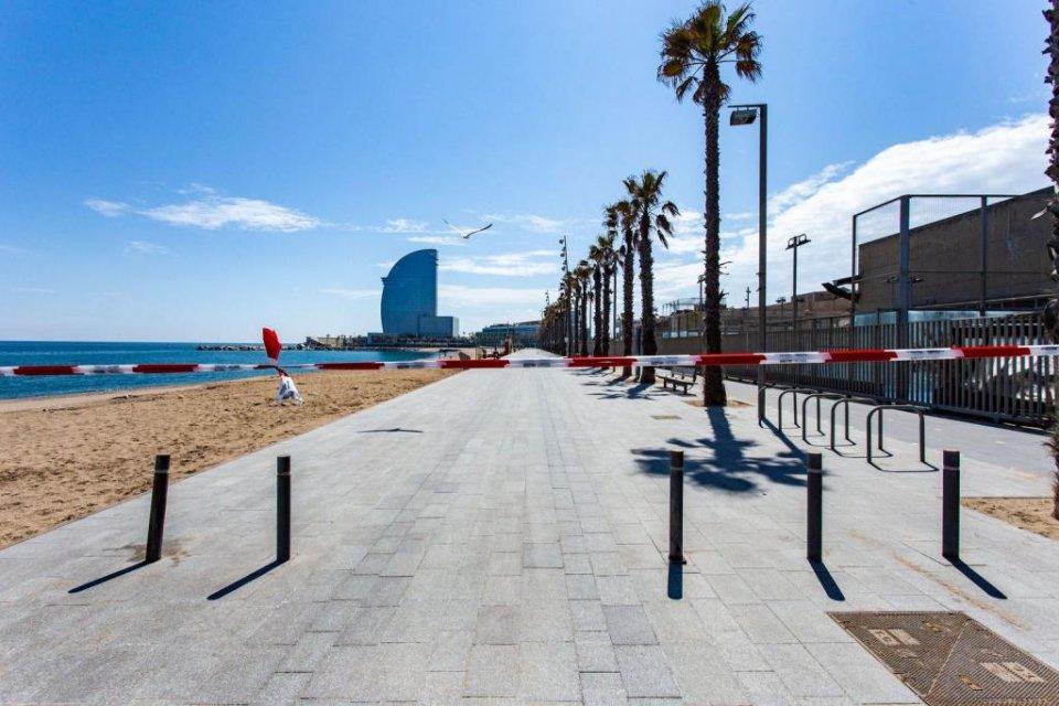 The beachfront in Barcelona
