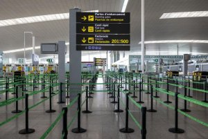 An image at Barcelona Airport