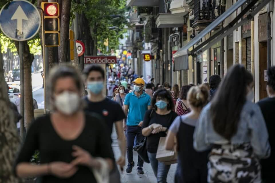 People walking in Barcelona