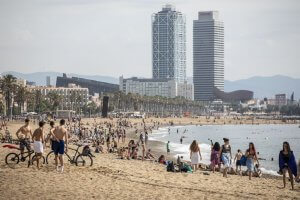 Beach front in Barcelona