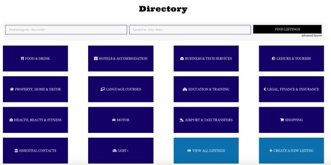 Spain in English Directory