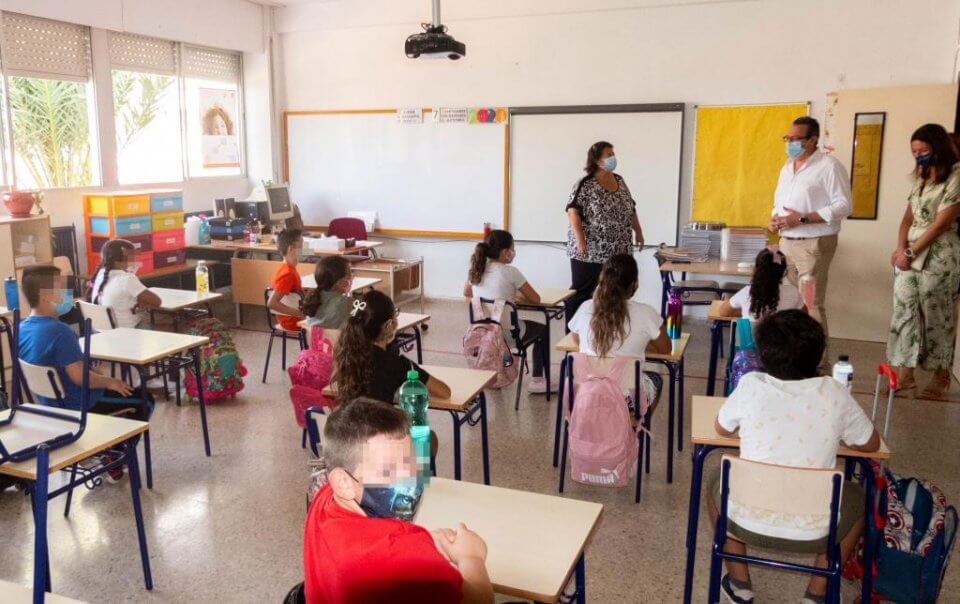 Back to school in Benidorm.