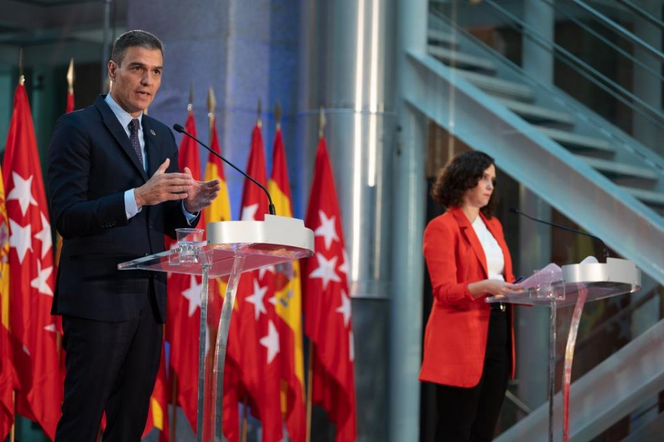Pedro Sánchez and Isabel Díaz Ayuso