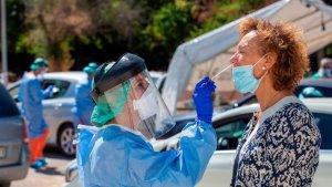 Coronavirus testing in Valencia.