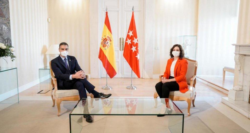 Pedro Sánchez and Isabel Díaz Ayuso