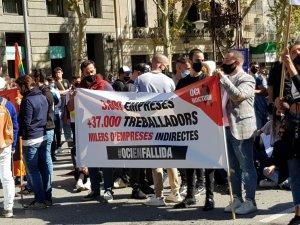 Protestors in Barcelona