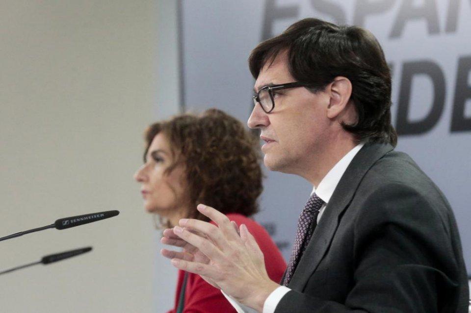 Salvador Illa and María Jesús Montero