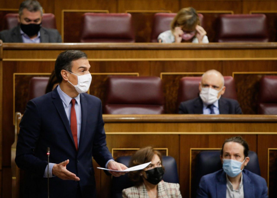 Spanish Prime Minister Pedro Sanchez in Congress