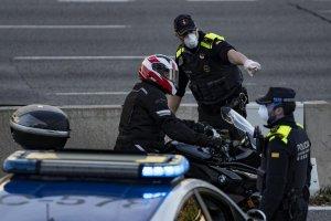 Police road checks in Barcelona