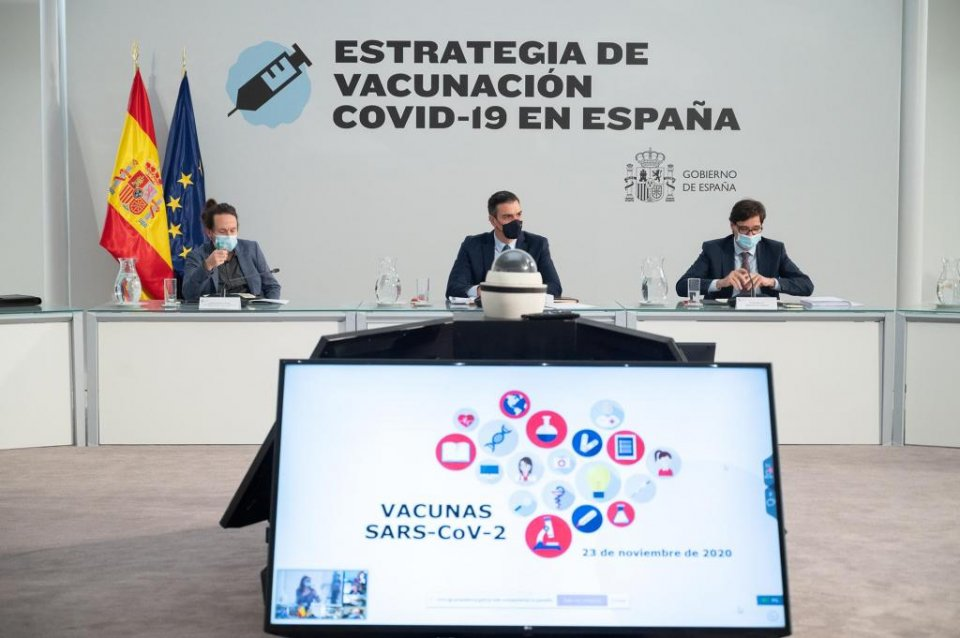 Spanish government's cabinet meeting