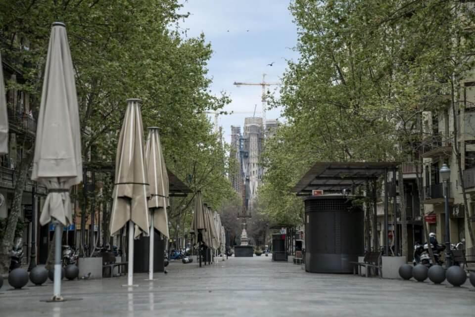 Avenida de Gaudí, Barcelona.