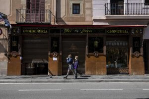 Barcelona during the Coronavirus health crisis