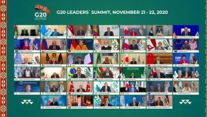 G20 leaders online 'family photo'