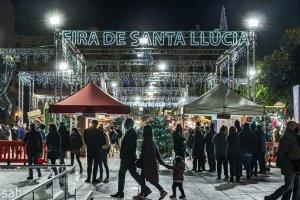 Santa Llúcia Christmas market in Barcelona