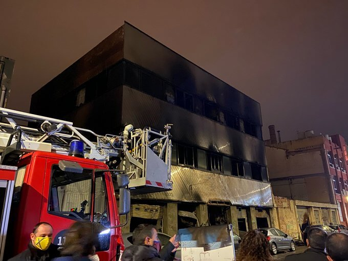 The fire in Badalona