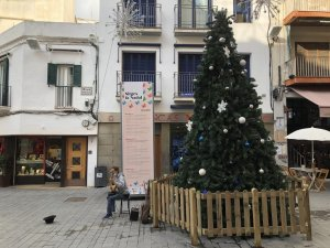 Christmas tree in central Sitges, Catalonia