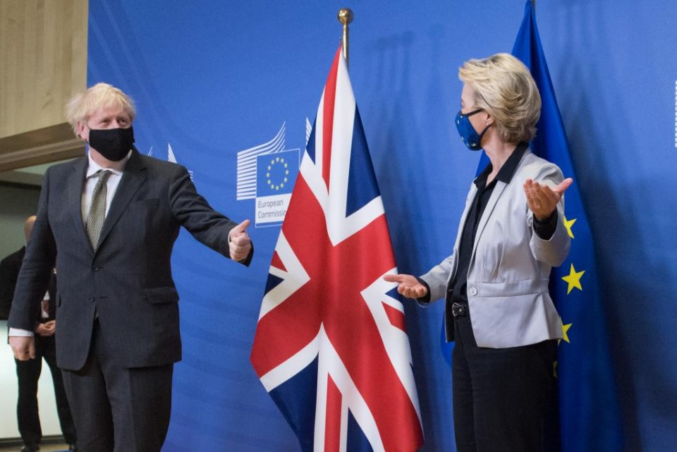 UK Prime Minister Boris Johnson and EU Commission President Ursula von der Leyen in Brussels