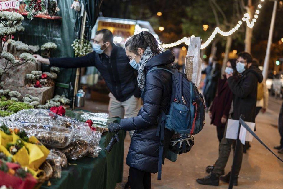 Christmas market near the Sagrada Familia in Barcelona