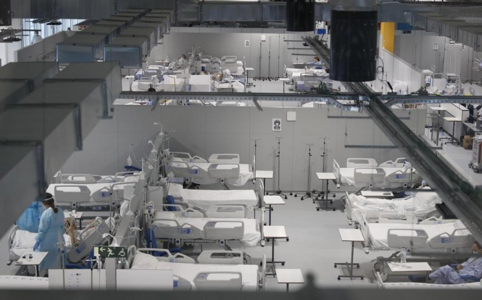An image from the new Isabel Zendal Hospital in Madrid