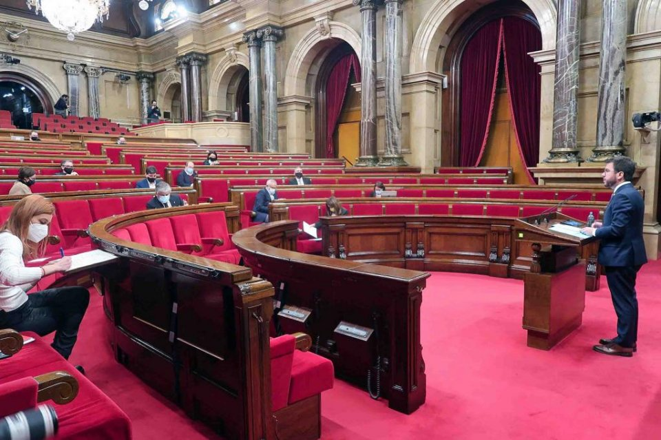 The Catalan Parliament on 13 January 2021. (Parliament.cat)