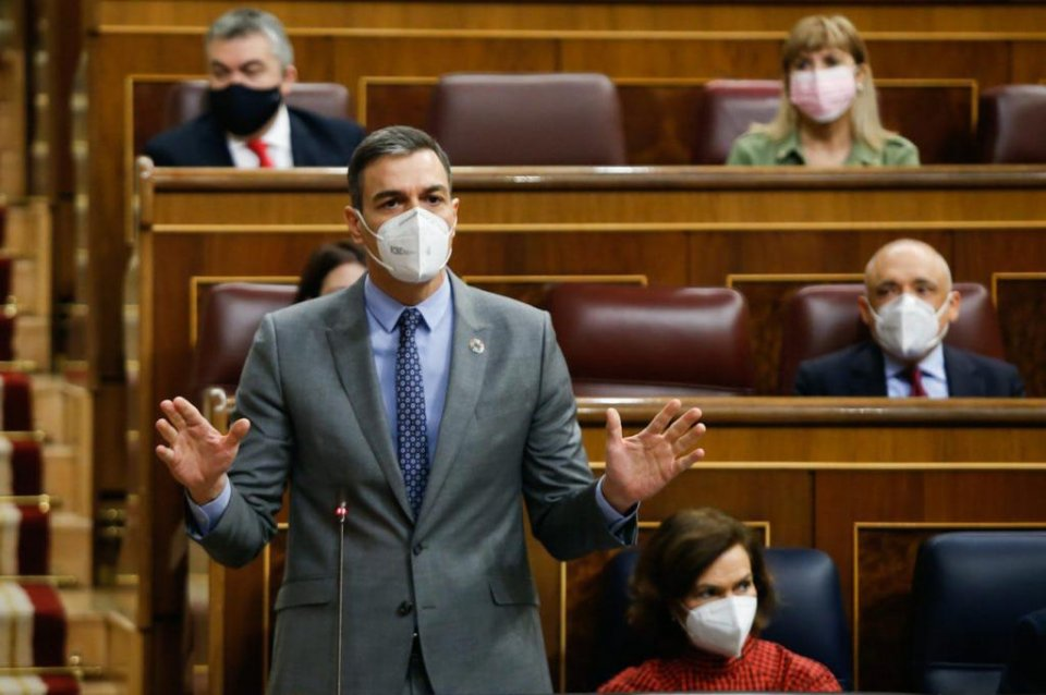 Prime Minister Pedro Sánchez in the Spanish Congress
