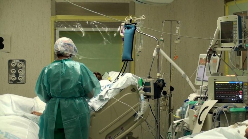 An image from one of the Covid-19 intensive care wards