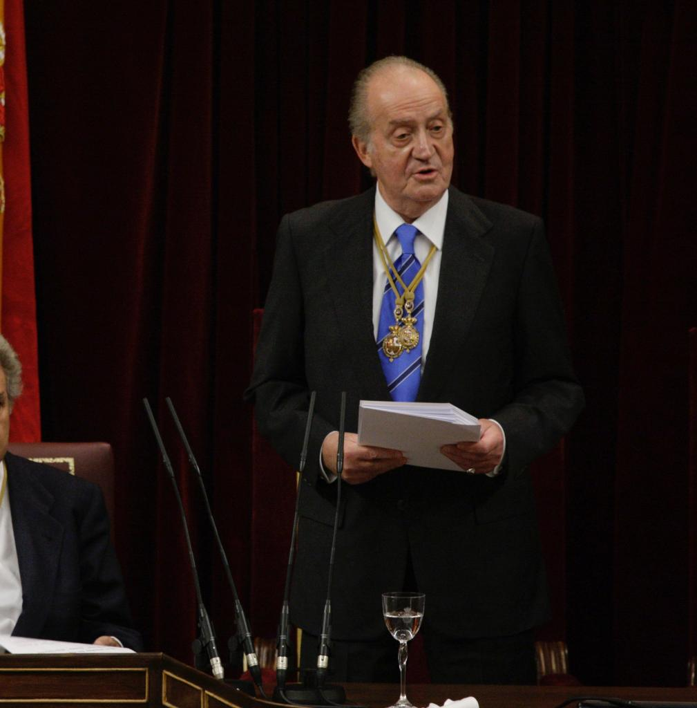 Archive image of Juan Carlos I at the Spanish Congress