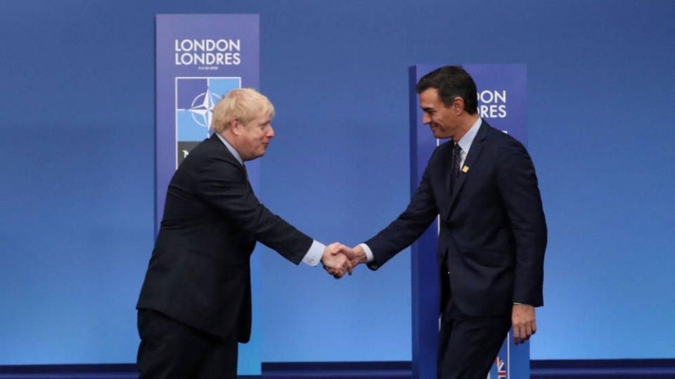 Boris Johnson and Pedro Sánchez