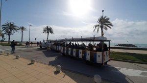 Senior citizens enjoying the Mediterranean Sea