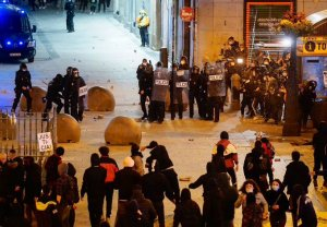 Image of the riots in central Madrid