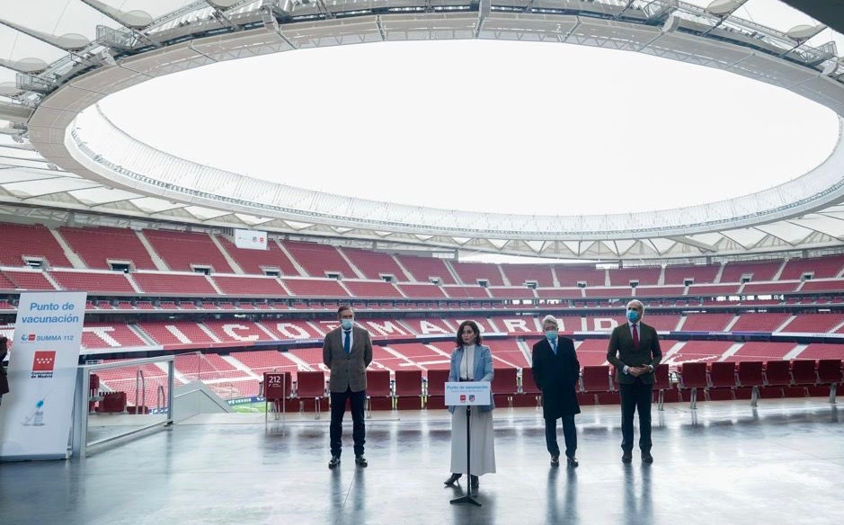 Atletico Madrid's Wanda Metropolitano stadium