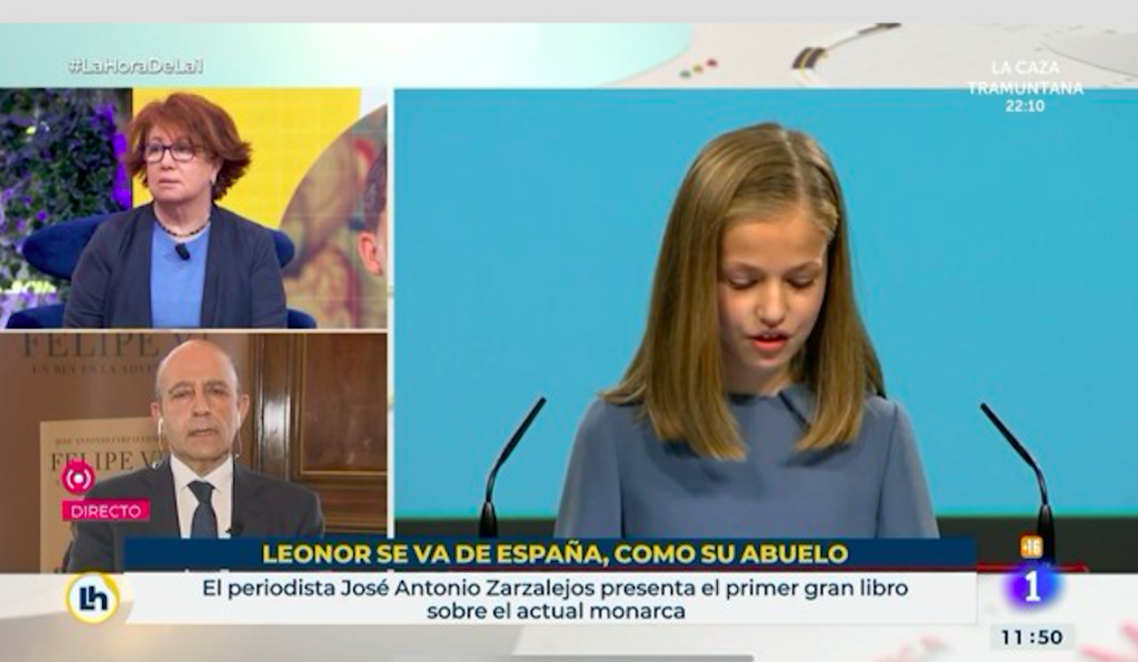 'Leonor is leaving Spain, like her grandfather'
