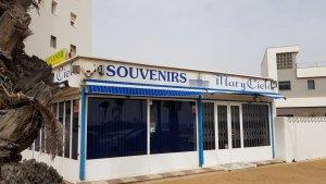 A souvenir shop closed