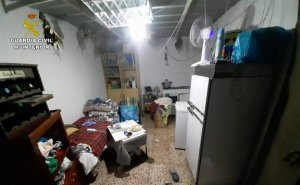 An image of the garage in Alicante where the woman from Algeria was being held captive. (Guardia Civil).