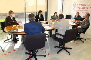 An image of the 'working group' meeting of the hospitality sector held this week.