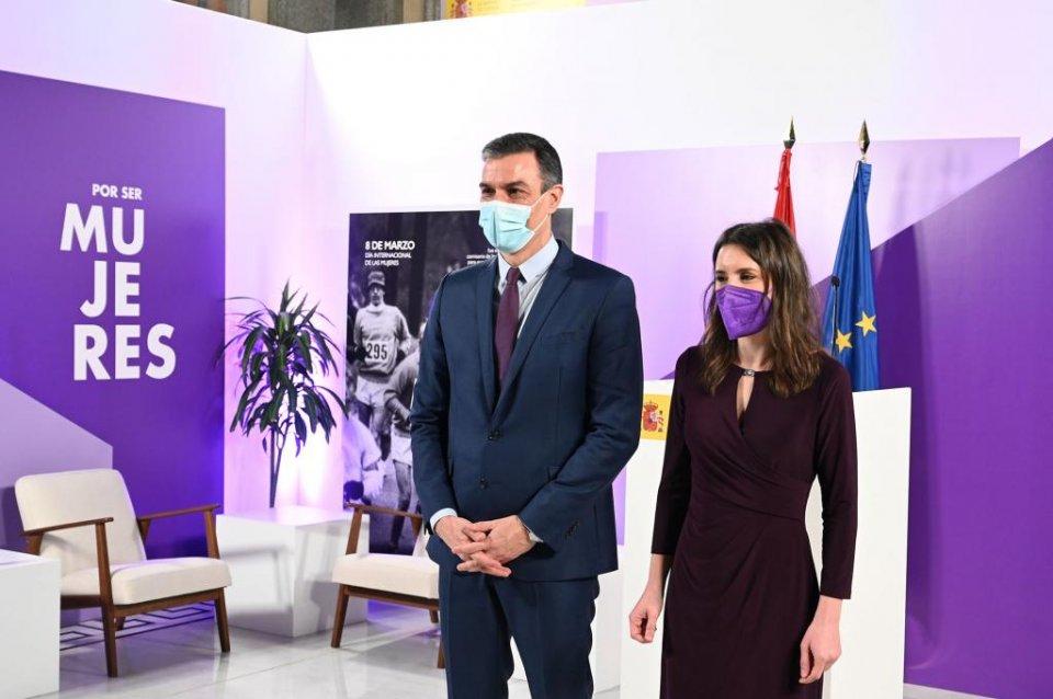 Pedro Sánchez and Irene Montero