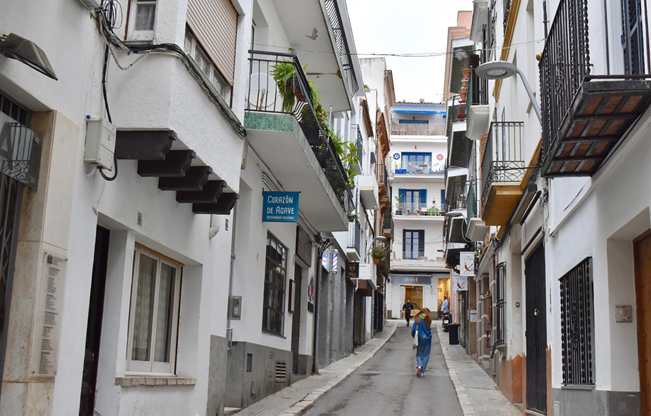 Carrer Sant Pere in Sitges