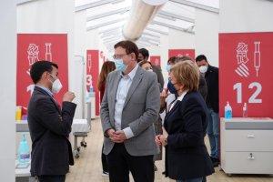 Valencian president Ximo Puig and health minister Ana Barcelò