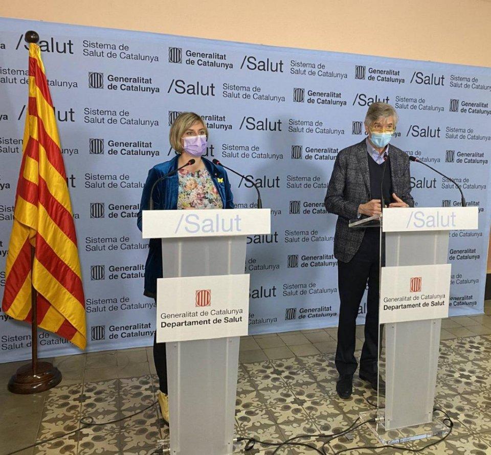 Alba Vergés and Josep Maria Argimon.