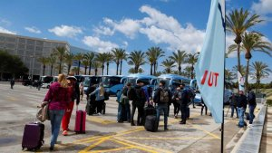 German tourists returning to Mallorca.