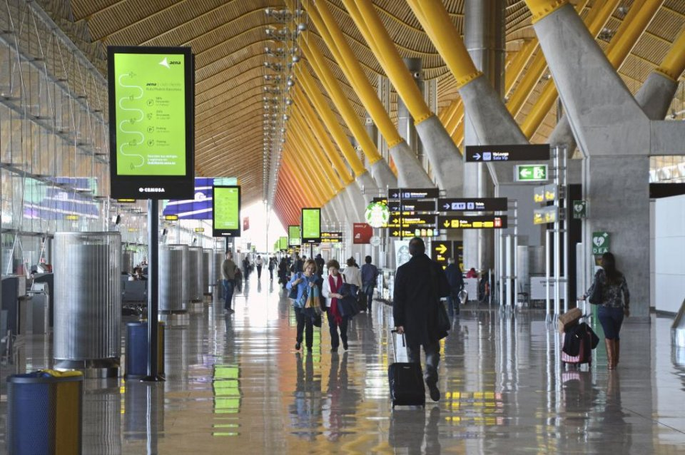 Library image of Madrid airport.