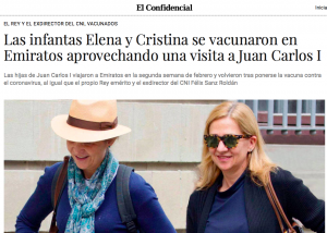 Screenshot from the report in El Confidencial.